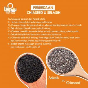 Perbedaan Chia Seed dan Selasih