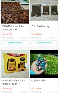 Beberapa harga produk Syurga Kurma,